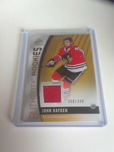 2017-18-Sp-Game-Used-John-Hayden-Jersey-399-Authentic-Rookies-Rc-117-L-K