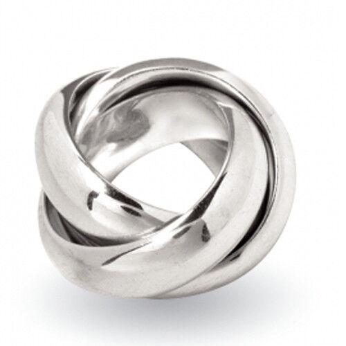 """Dreifach, Sterling Silber 925 Silber Ring /""""großer Dreier/"""" 3er Ring Rollring"""