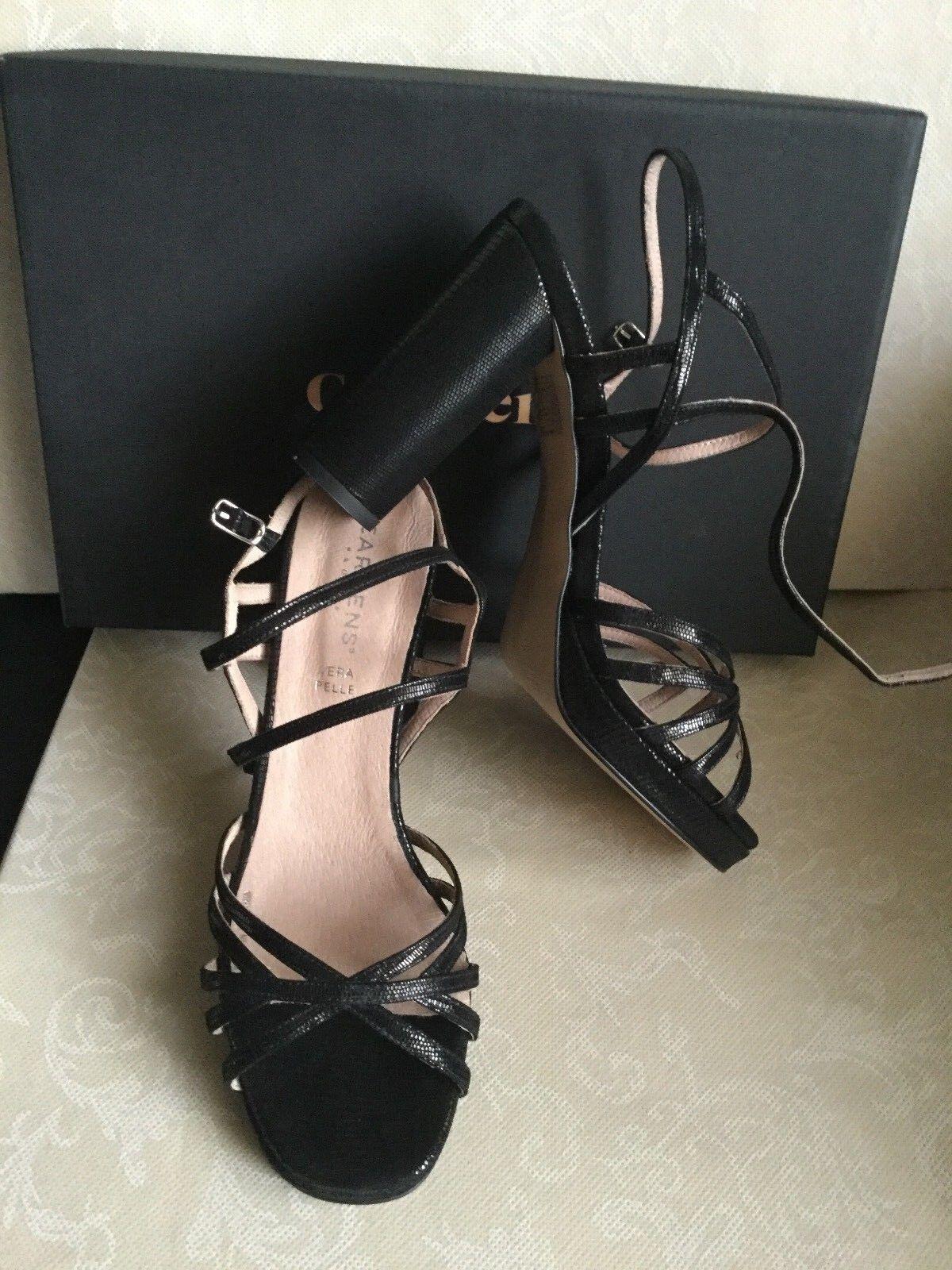 Sandals CARMENS  Woman noir Couleur number 40, leather  Sandali femmes Couleure noir