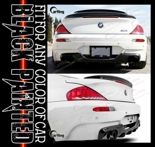 EXTREMSPOILER////GLOSSY BLACK PAINTED REAR DIFFUSER FOR BMW E63 M6 V style  06-10