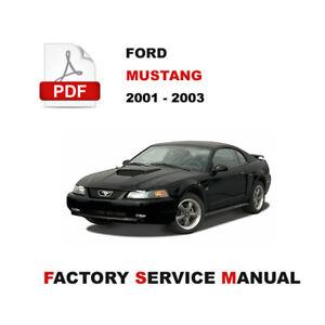 ford mustang gt 2001 2002 2003 factory service repair workshop shop rh ebay com 2004 mustang repair manual 2004 mustang repair manual