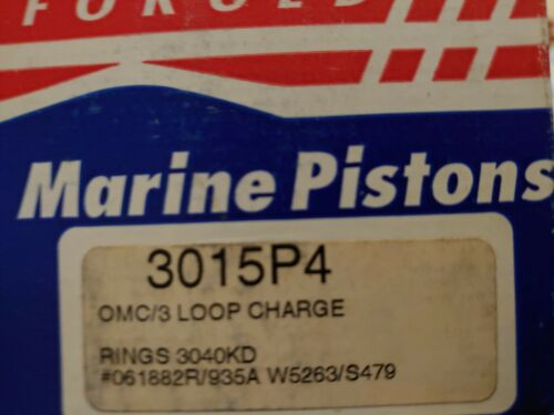 3015P4 Wiseco .040 oversize Piston OMC Johnson Evinrude outboard 3 cyl 60-75 hp