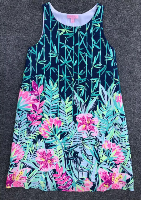 MULTI COLOR SURF GYPSY ENGINEERED LILLY PULITZER KRISTA SHIFT DRESS NWT $178
