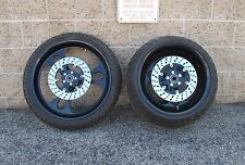AMT BILLET 330 TIRE BLACK WHEEL SET TIRES ROTORS 21x3.5 / 17x12 CHOPPER HARLEY