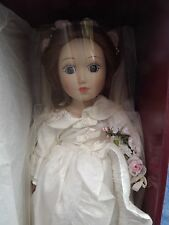 Abigail Danbury Mint porcelain Bride Doll, boxed with cert and stand