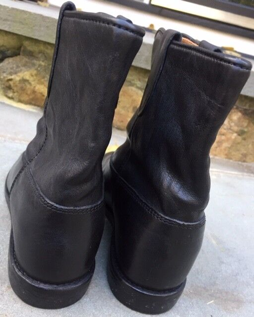 ISABEL MARANT 37 US 7 cuir noir Crisi Crisi Crisi Hidden Wedge bottes 61887c