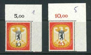 Berlin-Mi-Nr-129-130-Ecke-2-Eckrand-postfrisch-Originalgummierung