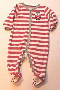 6eebdbaa3e8d Carter s Infant Baby Boy 3 Months Christmas Santa Claus Striped ...