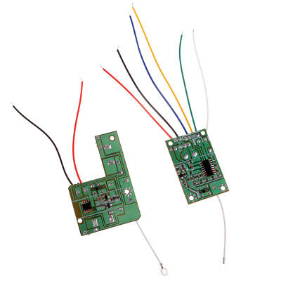 4CH 40MHZ remote transmitter /& receiver board with antenna for  toy parts.BE