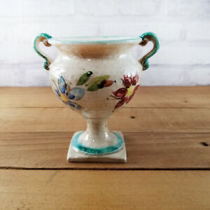 Vintage Relpo Urn Planter Hand Painted Marked Ceramic Vase Multicolor Japan
