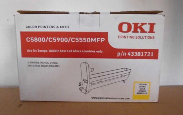 Original Oki 43381721 ImageDrum-Trommel  yellow für C5800 C5900 C5550MP Karton C