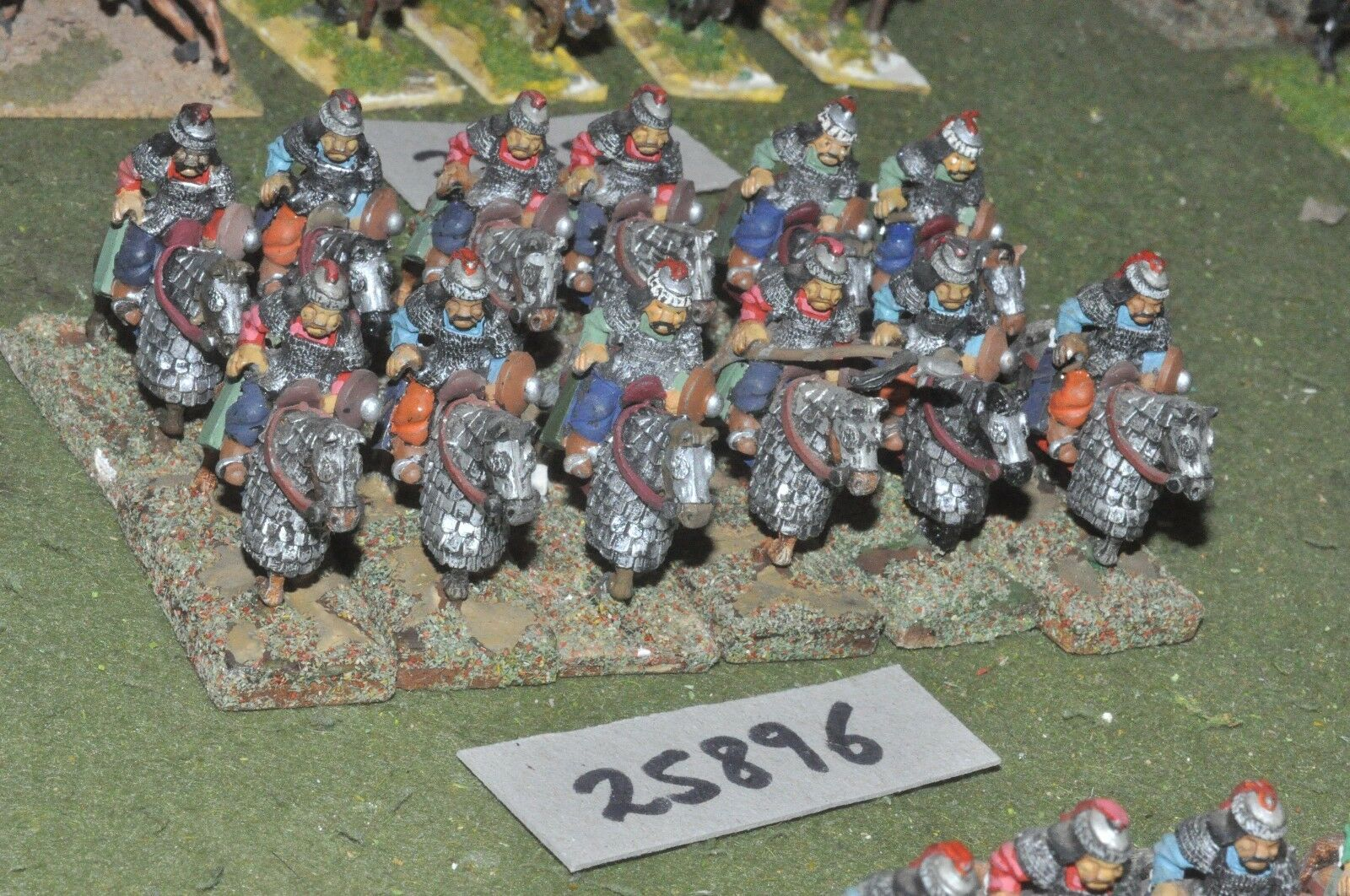 25mm medieval   turk - heavy 12 figures - cav (25896)