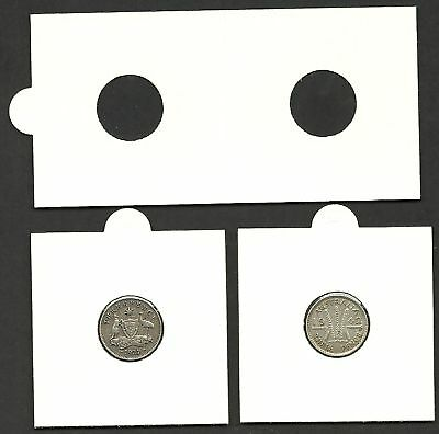 Pack of 50 COIN HOLDERS 2 x 2 Self Adhesive 32mm suits 1d /& 50c size COINS