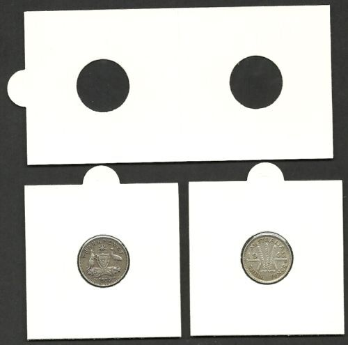 COIN HOLDERS 2 x 2 Self Adhesive 17mm SUITS 3d Size COINS Bundle of 50
