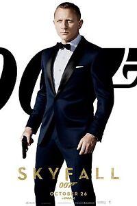 Details About Skyfall James Bond Slim Fit Blue 2 Piece Wedding Party Suit High Quality Replica