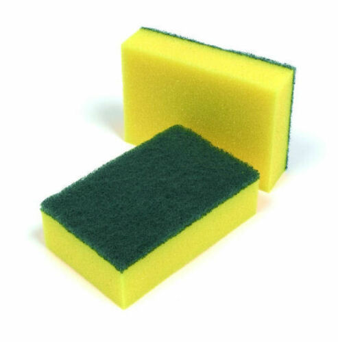 Sponge Scourers Professional Large Heavy Duty Catering Washing Up Scouring Pads