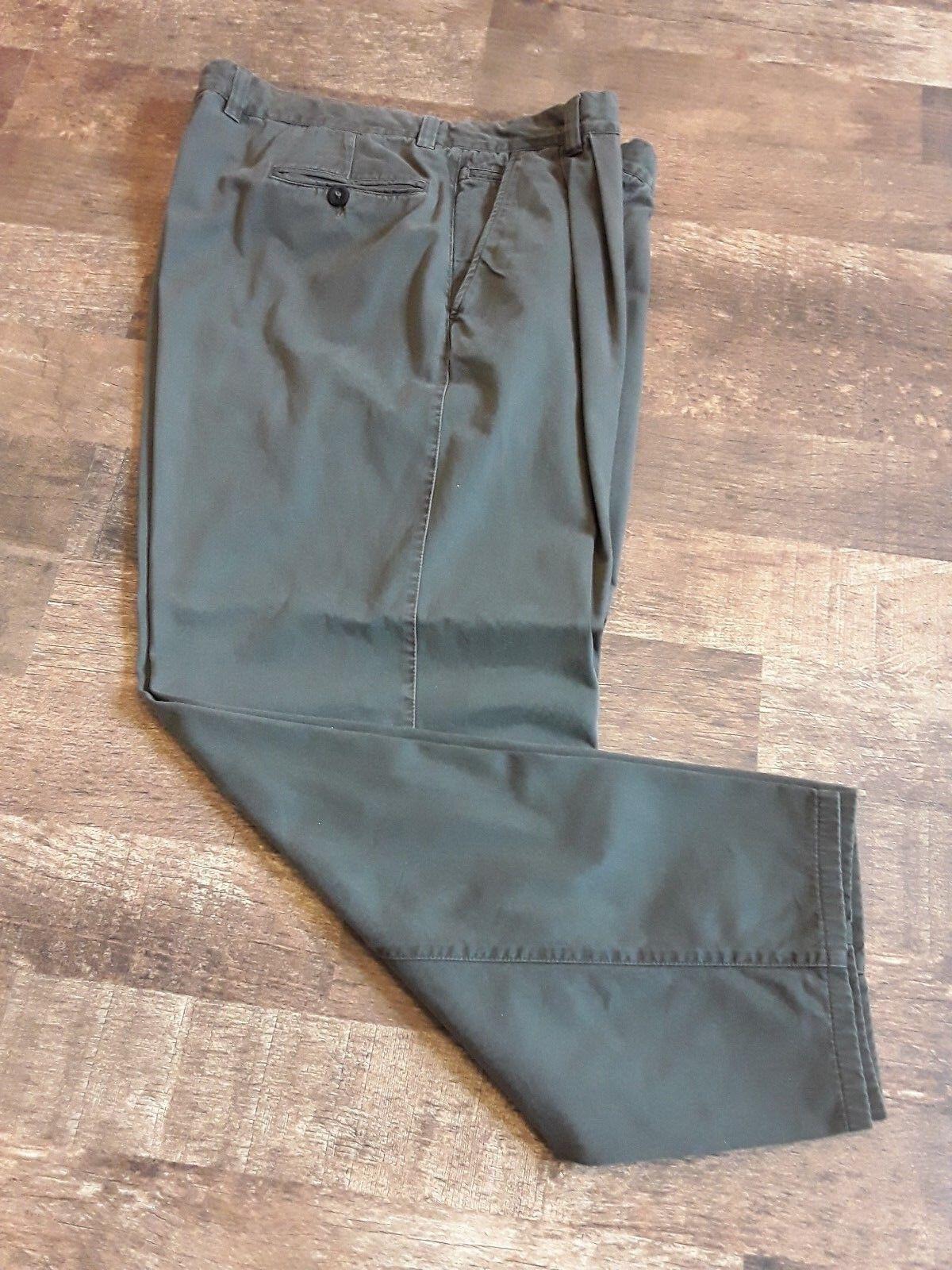 ERMENEGILDO ZEGNA Men Green Cotton  Casual Pants Size 58 Mod.Scott
