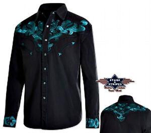 Hemden Country Western Ref Justin Stars /& Streifen Angebot