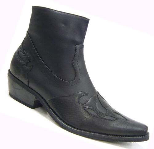 Cowboy Chaussures western Bottine Carnaval Bottes Noir 40 41 42 43 44 45