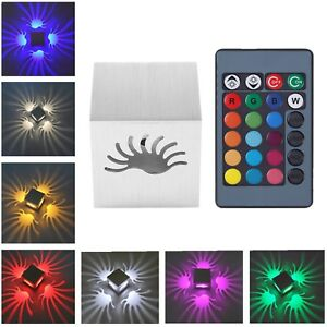 3W-RGB-LED-Wandleuchte-Wandlampe-Flurlampe-Deckenleuchte-Fernbedienung-Dekor-Neu