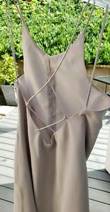 Ann-Taylor-Silver-Gray-Straps-Crisscrossed-Back-Cocktail-Event-Long-Gown-Dress-6