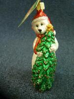 Merck Old World Christmas Owc Merry Beary Bear Ornament With Tag (o2050)
