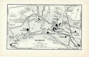 29 Quimper 1925 pt. plan ville + guide (3 p) Locmaria Faïenceries St. de Laennec Fk5i5sN1-08020535-110776235