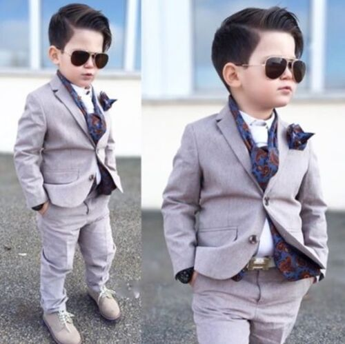 Custom Made Kid/'s 2 Piece Formal Wedding Groom Tuxedos Boys Children Party Suits