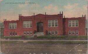 Postcard-High-School-Building-Burlington-NJ