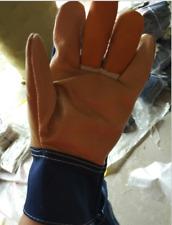 Welding Glove Gauntlets Welders Gloves Cowhide Twill Glove Labor Heat Protective