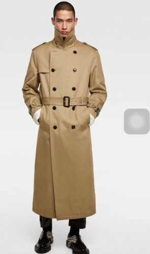 Size Double Trench S Studs Coat New Zara With Breasted Men v7n86T