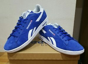 dcfb2df72f5aeb Image is loading REEBOK-NPC-UK-RETRO-LEATHER-ROYAL-BLUE-UK-