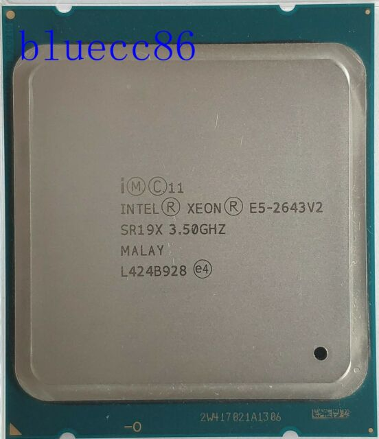 6 Six Core CPU Processor SR19X LGA2011 3.8Ghz Intel Xeon E5-2643 v2 3.5GHz
