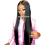 Glueless-Lace-Front-Wigs-Pre-Plucked-Brazilian-Straight-Lace-Wig-With-Baby-Hair miniature 1