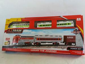 Kindermodelleisenbahnen Persevering Klassische Kinder Eisenbahn Zug Set Neu Ca 92cm Batteriebetrieben Starterset Lok Elektrisches Spielzeug