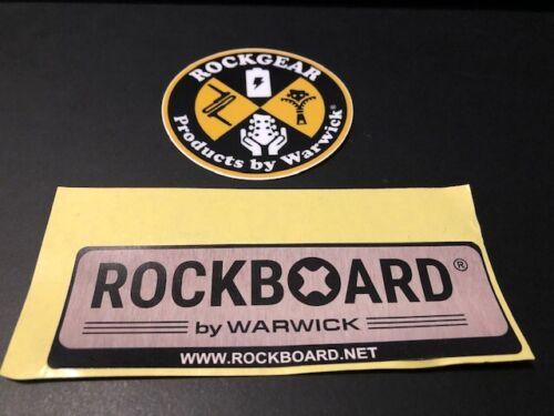 RockGear RockBoard By Warwick 2pc Sticker Set