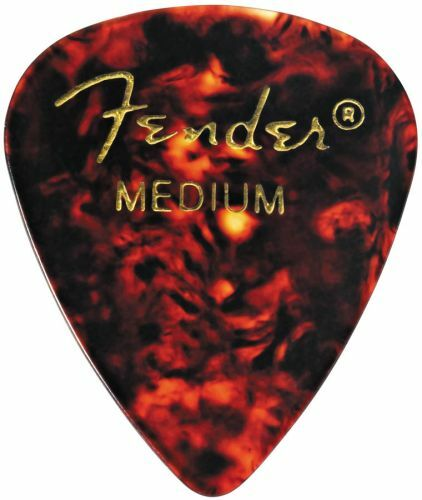 Fender 0980351800 351 Celluloid Picks Medium Package of 12