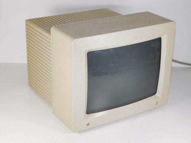 "Vtg Apple A2M6014 Macintosh Desktop Computer PC Color RGB 12"" CRT Monitor IIGS"