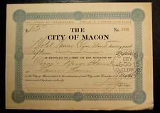 1915 DEALER IN TOBACCO TAX-HOTEL LANIER CIGAR STAND, MACON, GA.