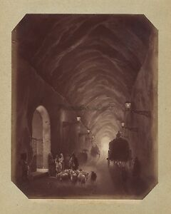 Grotte Da Pozzuoli Foto Di Dopo Peinture Italia Vintage Albumina Ca 1875