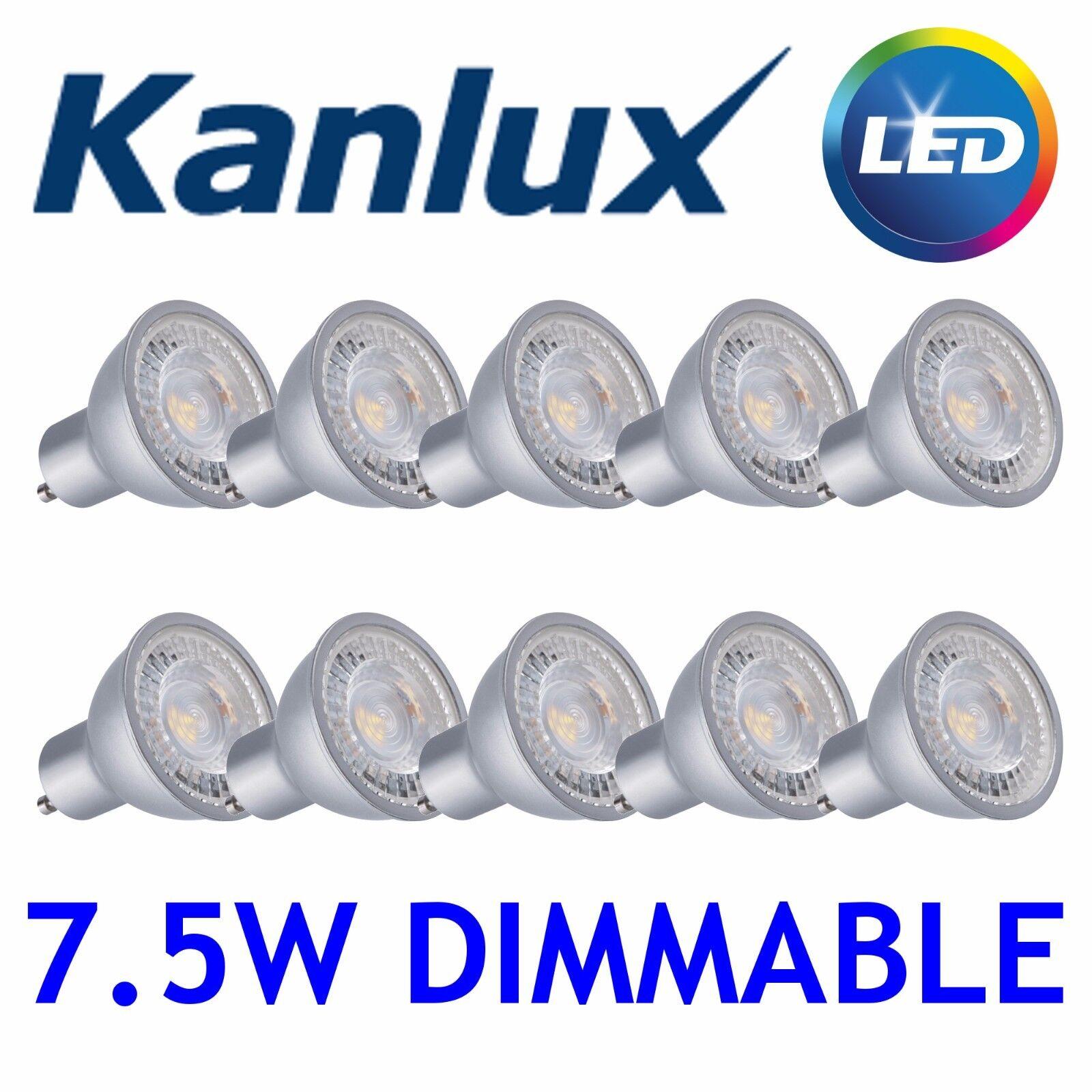 20x Kanlux PRODIM 4000K Cool blanco LED GU10 Dimmable Spot Light Bulb Lamp 7.5W