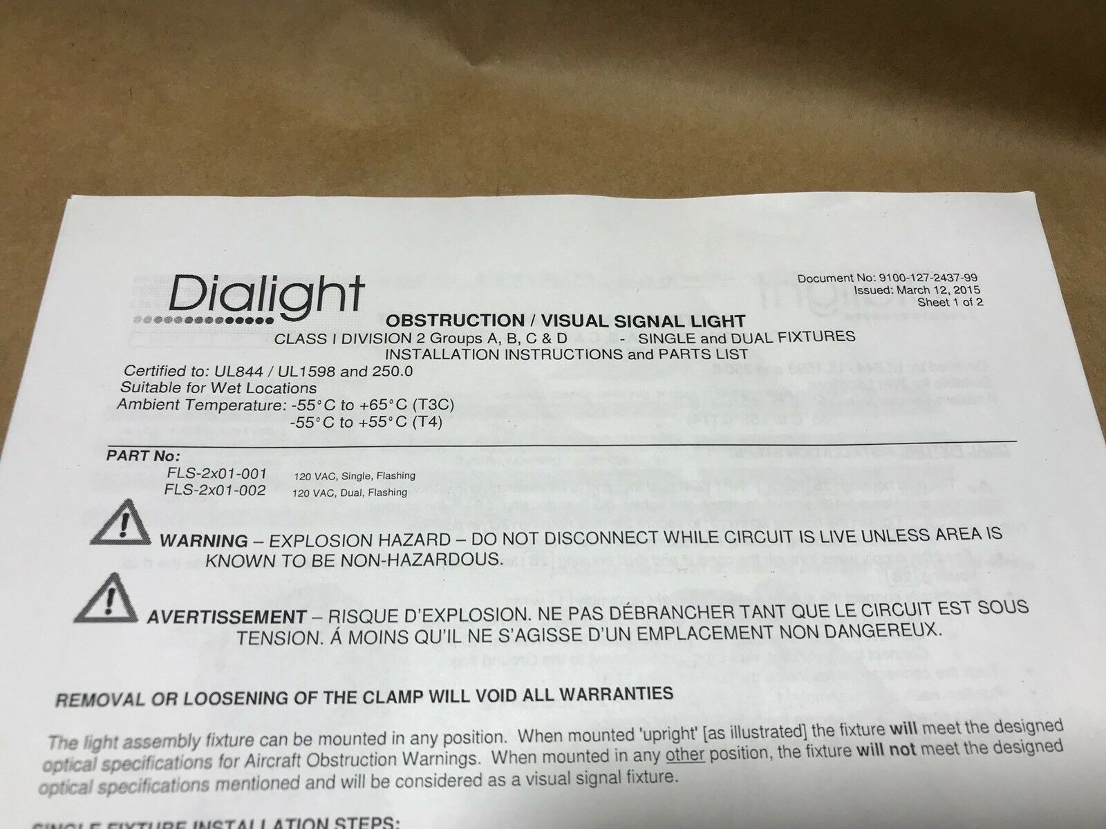 Dialight Flashing Haz Location Green Fls2g01001 Aviation Marine Air Craft Warning Light Circuit 120 Vac Ebay