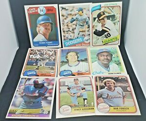 Lot of 10 VTG (1978-1989) Baseball Cards Robin Yount Andre Dawson & MORE NM-MT