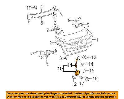 Genuine Lexus ES350 2007-2012 Trunk Door Latch Lock 64600-33140 OEM