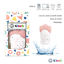 thumbnail 12 - 4Teeth Baby Teething Mitten Premium Soft Silicone Toy in Gift Box BLUE,PINK