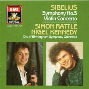 Simon-Rattle-amp-Nigel-Kennedy-Sibelius-Symphony-No-5-Violin-Conce-CD-1994