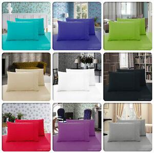 Pair-of-1000TC-QUEEN-Pillow-Cases-KING-Pillow-Case-STANDARD-Size-Pillowcases