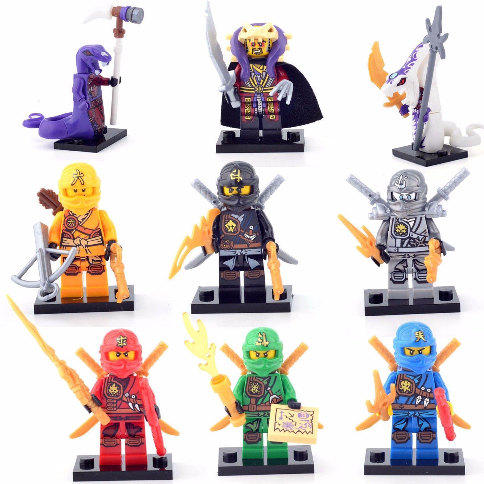 9 Sets Minifigures Toys Ninja Ninjago Lloyd Skylor Zane Cole Jay Kapau Fast Ship *Highly-Rated*