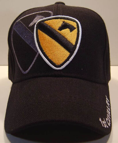 US ARMY 1st CAVALRY CAP HAT BLACK WHOLESALE NEW