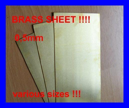 Brass Sheet 0,1 ; 0,2 ; 0,3 ;  0,5 ; 0,8mm. 1mm. Various Sizes...Super Price !!!